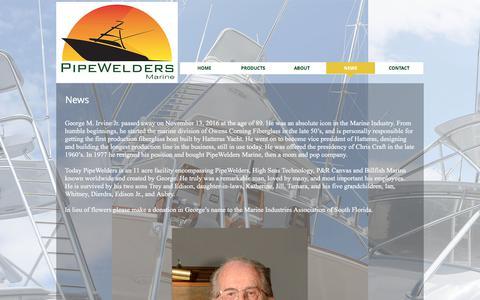 Screenshot of Press Page pipewelders.com - Pipewelders Marine | NEWS - captured Aug. 4, 2017
