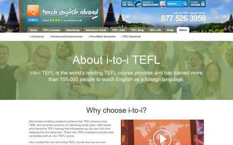 Screenshot of About Page onlinetefl.com - About i-to-i TEFL | What We Do and How We Got Here - captured Jan. 20, 2016
