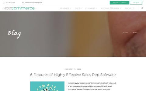Screenshot of Blog nowcommerce.com - Blog - Now Commerce - captured Jan. 11, 2016