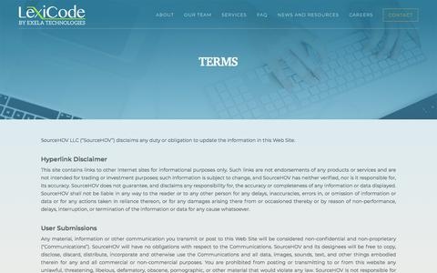 Screenshot of Terms Page lexicode.com - Lexicode - captured July 19, 2018