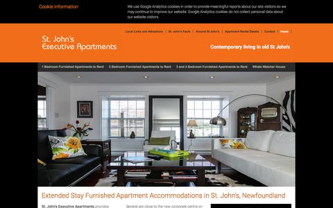 Screenshot of Home Page stjohnsexecutiveapartments.net - Short / Long Term, Extended Stay Accommodations, Furnished Apartments & Residences in St. John's, Newfoundland - captured June 16, 2017