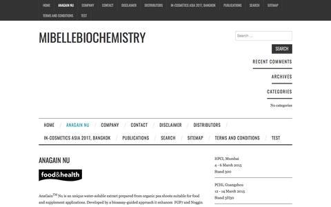 AnaGain Nu – Mibellebiochemistry