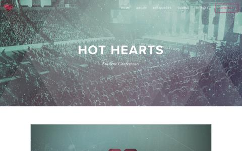 Screenshot of Home Page hothearts.org - Hot Hearts - captured April 8, 2017