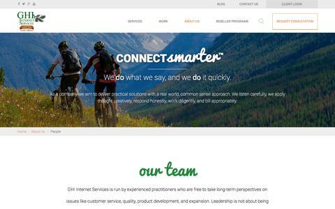 Screenshot of Team Page ghiis.com - GHI Internet Services - Digital Marketing Agency - Management Team - captured Oct. 19, 2016