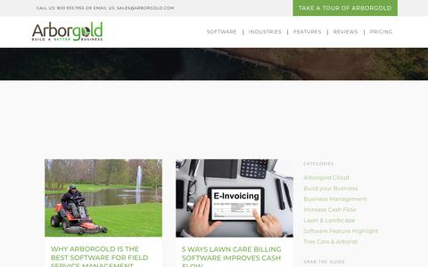 Screenshot of Blog arborgold.com - Blog | Arborgold Software | For Tree Care, Lawn Care and Landscape Companies - captured Sept. 23, 2018