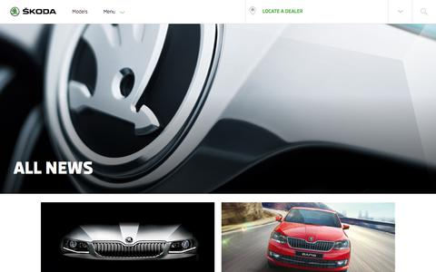 Screenshot of Press Page skoda-auto.co.in - News - captured June 27, 2017