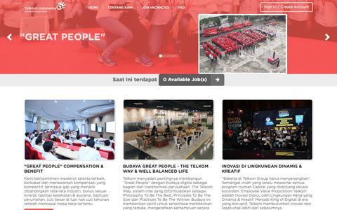 Screenshot of Jobs Page telkom.co.id - Telkom - captured Nov. 7, 2018