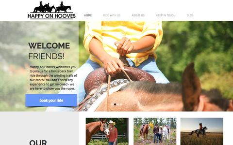 Screenshot of Home Page happyonhooves.com - Happy on Hooves - Maryland Trail Riding - captured July 11, 2016