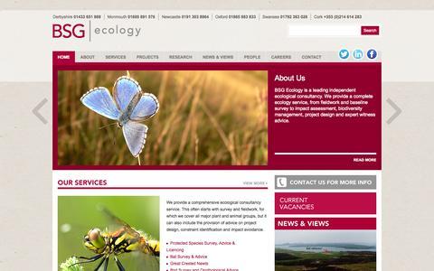 Screenshot of Home Page bsg-ecology.com - BSG Ecology - captured Oct. 5, 2014