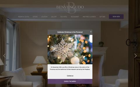 Screenshot of Home Page Maps & Directions Page benvengudo.com - Hotel Benvengudo **** | OFFICIAL SITE | 4 Star Hotel in Provence - captured Dec. 17, 2017