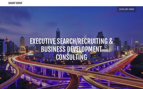Screenshot of Home Page savantgroup.net - Savant Group - Recruiting, Business Development - captured July 27, 2018