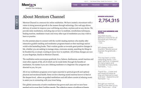 Screenshot of About Page mentorschannel.com - About Mentors Channel - captured Sept. 21, 2016