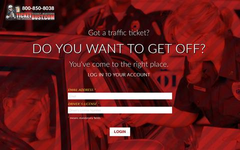 Screenshot of Login Page ticketbust.com - TicketBust - captured May 29, 2019
