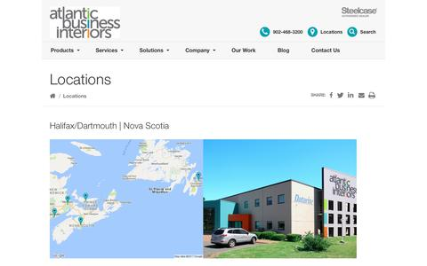 Screenshot of Locations Page atlanticbusinessinteriors.ca - Locations Archive - Atlantic Business Interiors - captured July 31, 2018
