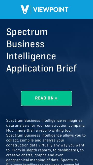 Spectrum® Business Intelligence Application Brief