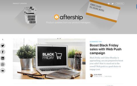 Screenshot of Blog aftership.com - AfterShip Blog - captured Nov. 14, 2019