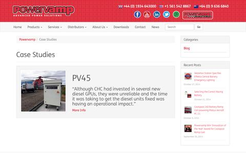 Screenshot of Case Studies Page powervamp.com - Case Studies - Powervamp - captured Nov. 1, 2014