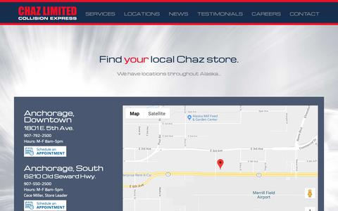 Screenshot of Locations Page chazltd.com - Locations | Chaz Limited - captured Sept. 27, 2018