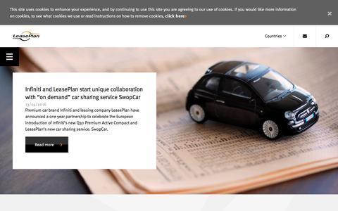 Screenshot of Press Page leaseplan.com - LeasePlan Corporation N.V. | Media - captured April 15, 2016