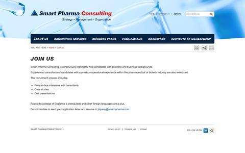 Screenshot of Signup Page smart-pharma.com - Smart Pharma - Join us - captured Oct. 1, 2014