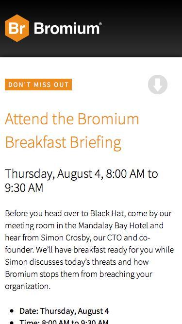 Bromium Breakfast Briefing