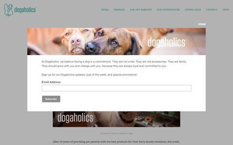 Screenshot of Blog dog-a-holics.com - Dogaholics Blog — Dog-a-holics - captured Nov. 11, 2016