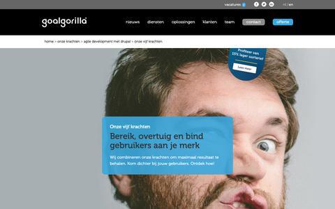 Screenshot of Support Page goalgorilla.com - Bereik, overtuig en bind gebruikers aan je merk - Onze online diensten - captured Sept. 29, 2018