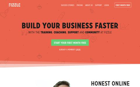 Screenshot of Home Page fizzle.co - Build Your Business Faster — Fizzle - captured March 1, 2018
