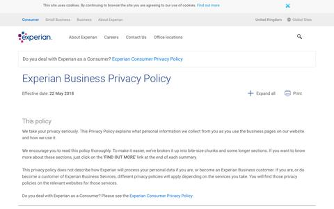 Experian Privacy Policy
