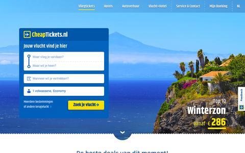 Screenshot of Home Page cheaptickets.nl - Vergelijk de goedkoopste vliegtickets op CheapTickets.nl - captured Oct. 5, 2015