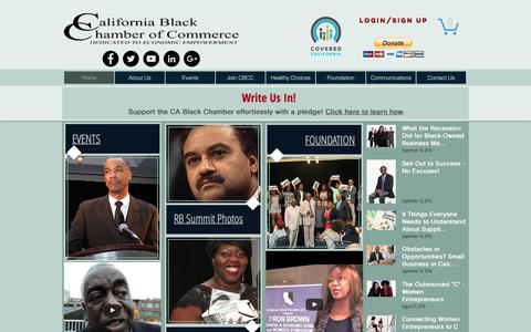 Screenshot of Home Page calbcc.org - CA Black Chamber of Commerce | Dedicated to Economic Empowerment - captured Oct. 16, 2016