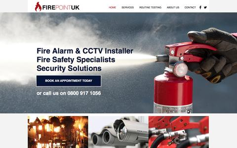 Screenshot of Home Page firepoint.org.uk - Colchester Essex fire alarm company | Installation, repairs, service - captured Feb. 10, 2016