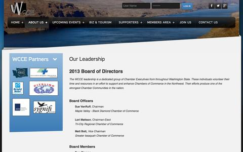 Screenshot of Team Page wcce.org - Our Leadership | Info | WCCE - captured Nov. 5, 2014
