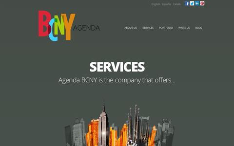 Screenshot of Home Page agendabcny.com - Agenda BCNY | Social Media | PR | Events | Agenda BCNY es una agencia internacional de comunicación y relaciones públicas. - captured Sept. 30, 2014