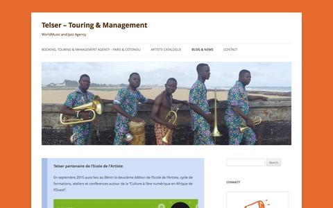 Screenshot of Blog telser.fr - Blog & News   Telser - Touring & Management - captured Feb. 14, 2016
