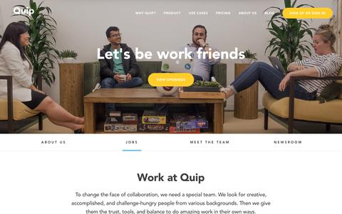 Quip - Join Our Team