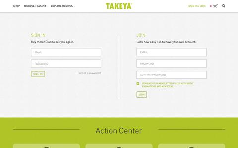 Screenshot of Signup Page takeyausa.com - Takeya | Join - captured Oct. 29, 2014