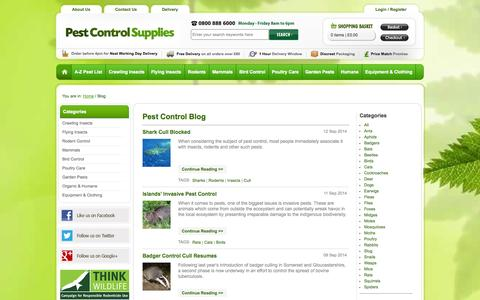 Screenshot of Blog pestcontrolsupplies.co.uk - Pest Control Blog   Pest Control Supplies - captured Sept. 22, 2014