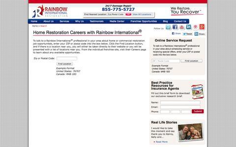 Screenshot of Jobs Page rainbowintl.com - Your Source for Home Restoration Jobs & Careers | Rainbow Intl. - captured Oct. 27, 2014