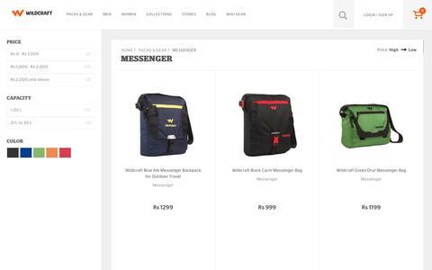 Screenshot of wildcraft.in - Buy Wildcraft Messenger & Sling Bags Online for Men & Women - captured March 19, 2016