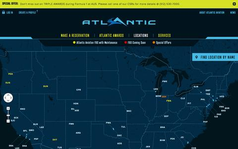 Screenshot of Locations Page atlanticaviation.com - Atlantic Aviation - Learn more about our locations - captured Oct. 22, 2014
