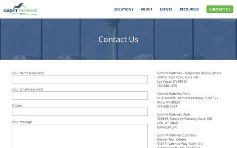 Screenshot of Contact Page gosummitpartners.com - Contact Us - Summit Partners - captured Nov. 6, 2018