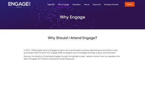 Why Engage - Engage 2018 NA