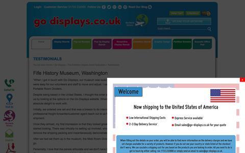 Screenshot of Testimonials Page go-displays.co.uk - go-displays Customers testimonials - captured May 20, 2017