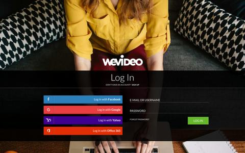 Screenshot of Login Page wevideo.com - Login - WeVideo - captured Dec. 3, 2015