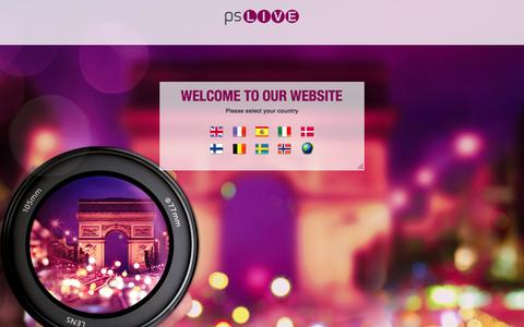 Screenshot of Home Page psliveglobal.com - PS Live - captured Oct. 3, 2014