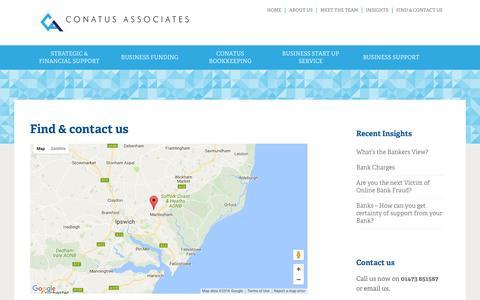 Screenshot of Contact Page conatusassociates.co.uk - Conatus Associates Limited | Find & contact us - Conatus Associates Limited - captured Aug. 9, 2016