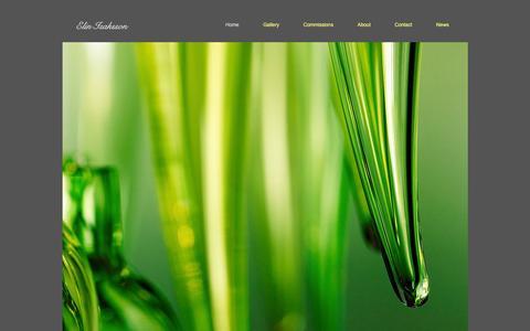 Screenshot of Home Page elinisaksson.com - Elin Isaksson Hand blown glass Scotland - captured Jan. 27, 2016