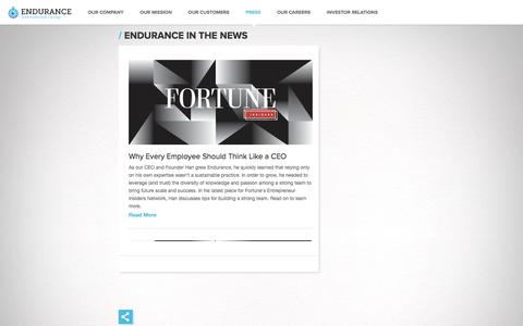 Endurance in the News | Endurance International Group