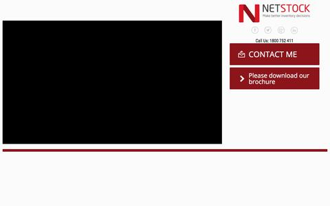 Screenshot of Landing Page demochimp.com - NETSTOCK - AUS/NZ   Consensus - captured Feb. 24, 2018